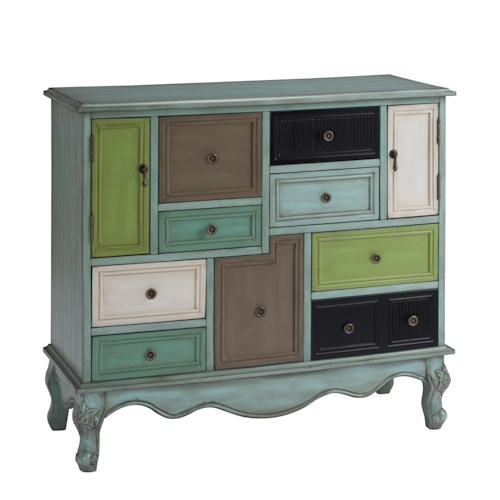 Coast to Coast Imports Coast to Coast Accents Nine Drawer Two Door Cabinet