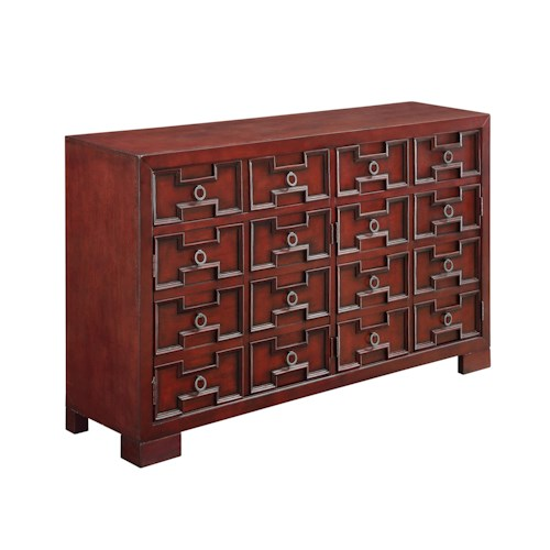 Coast to Coast Imports Coast to Coast Accents Four Door Two Drawer Media Credenza
