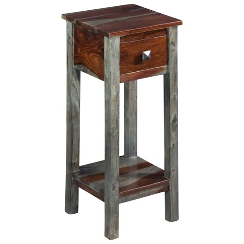 Coast to Coast Imports Grayson One Drawer Pedestal Table