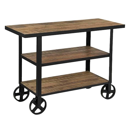 Coast to Coast Imports Coast to Coast Accents Two Shelf Trolley Cart