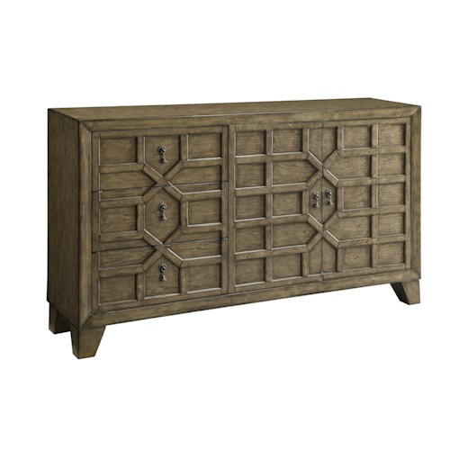 Coast to Coast Imports Coast to Coast Accents Three Drawer Two Door Credenza