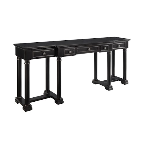 Morris Home Furnishings Accents Three Drawer Console Desk