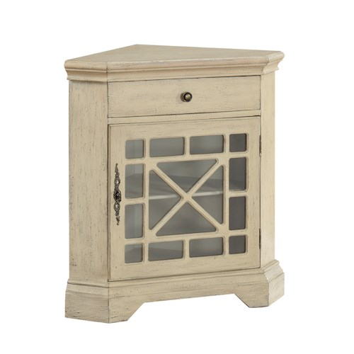 Coast to Coast Imports Coast to Coast Accents One Drawer One Door Corner Cabinet