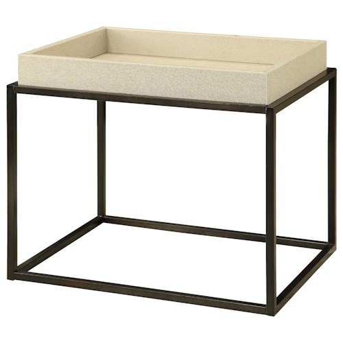 Coast to Coast Imports Coast to Coast Accents Tray Top End Table