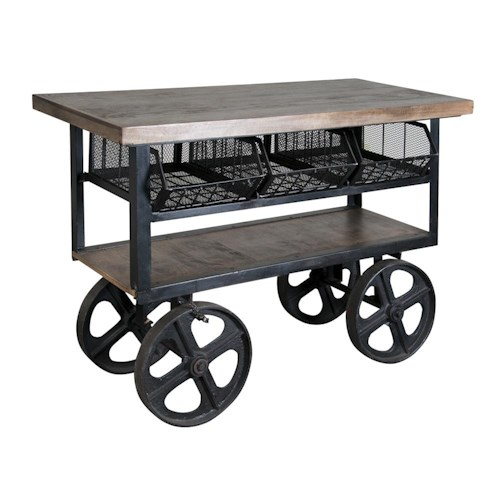 Coast to Coast Imports Jadu Accents Console Trolly