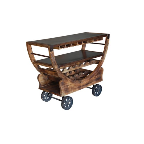 Coast to Coast Imports Jadu Accents Bar Trolley