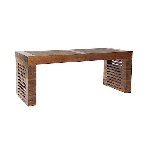Coast to Coast Imports Jadu Accents Wooden Bench