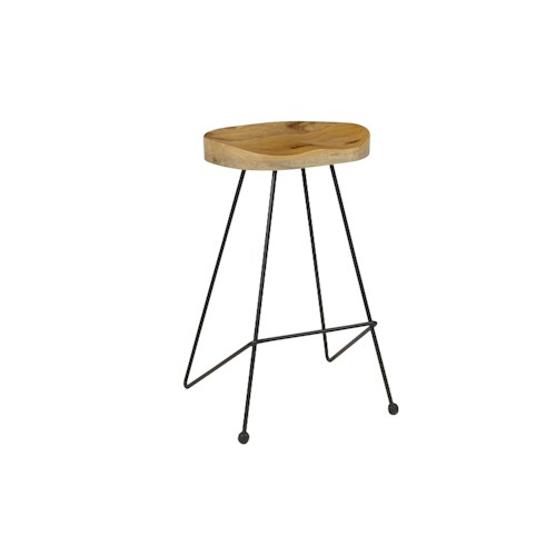 Coast to Coast Imports Jadu Accents Barstool with Metal Legs