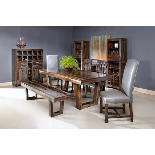 Coast to Coast Imports Grayson Sheesham Dining Room Group
