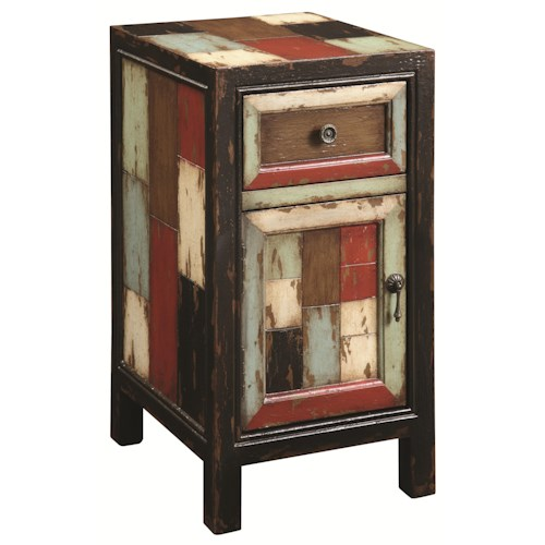 Coast to Coast Imports Occasional Accents Rustic Antiqued End Table with Thin Eclectic Construction