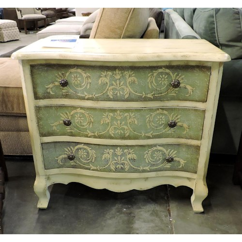 Coast to Coast Imports    Blue Green & Cream Chest Of Drawers