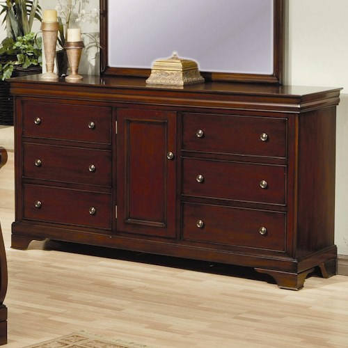 Coaster Versailles 6 Drawer Dresser with Door
