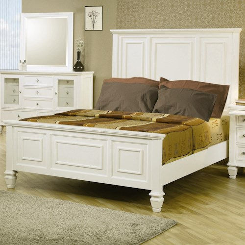 Coaster Sandy Beach Classic Queen High Headboard Bed