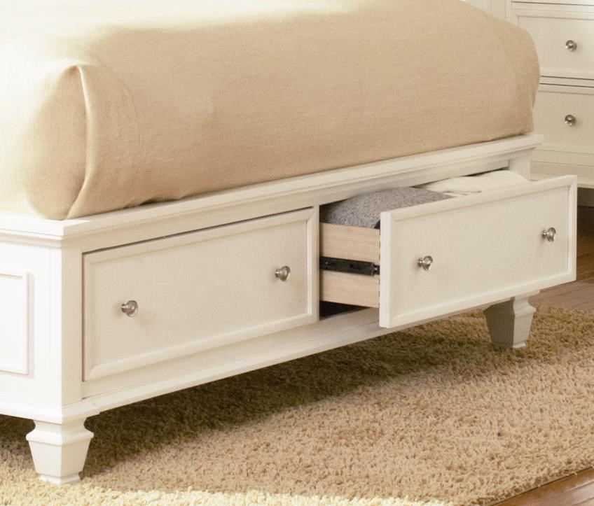 2 Storage Drawers Featured at Foot of Bed