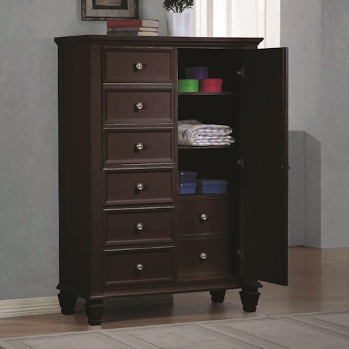Coaster Sandy Beach Door Dresser with Concealed Storage