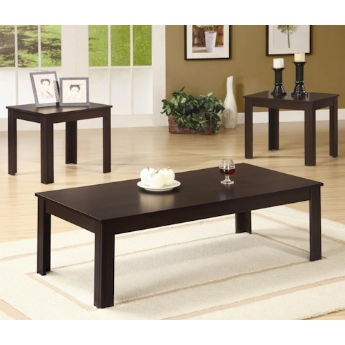Coaster Occasional Table Sets Casual Three Piece Occasional Table Set
