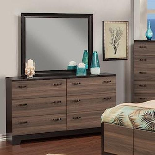 Sandberg Furniture 438 Dresser+ Mirror