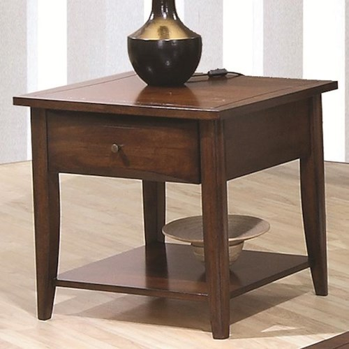 Coaster Whitehall End Table w/ Shelf & Drawer