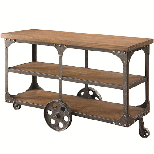 Coaster 70112 Sofa Table with 2 Shelves