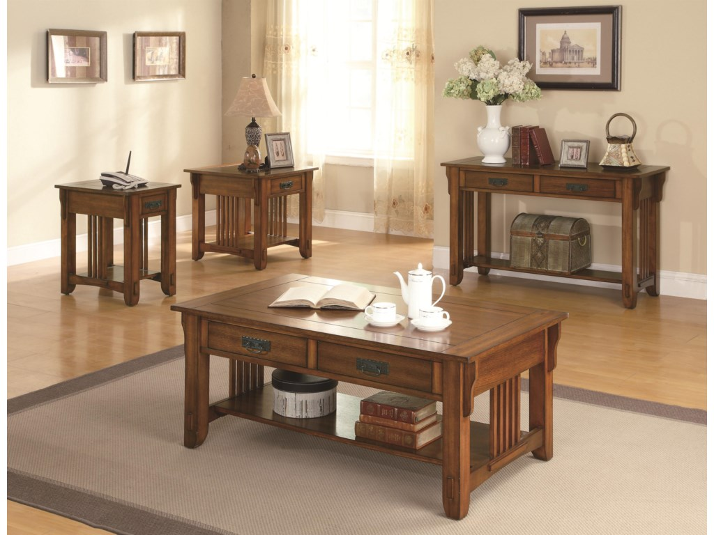 Shown with Side Table, Cocktail Table & Sofa Table