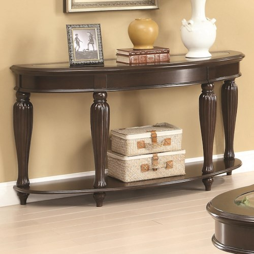 Coaster 70384 Console Table w/ Lower Shelf