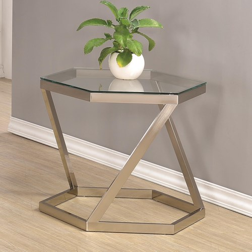 Coaster 70400 Hexagon End Table
