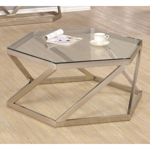 Coaster 70400 Metal Coffee Table