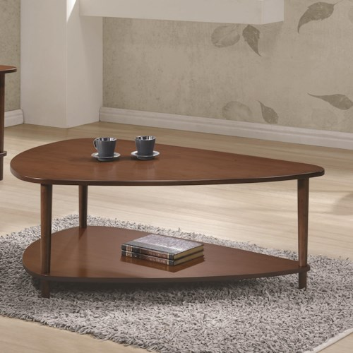 Coaster 70405 Contemporary Coffee Table with Bottom Shelf