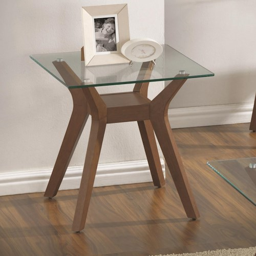 Coaster 70416 End Table with Glass Top