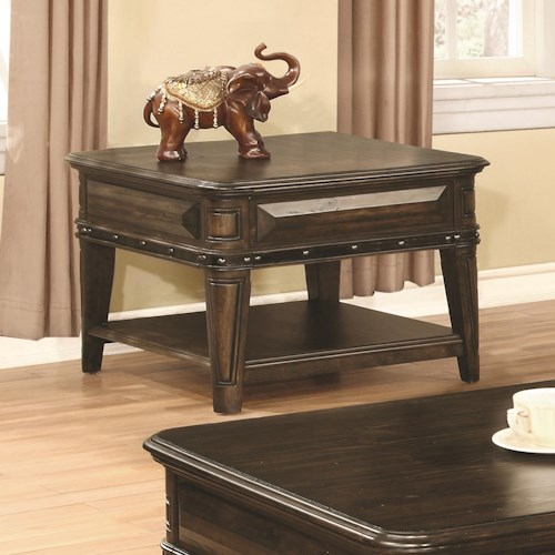 Coaster 70425 End Table with 1 Drawer and 1 Shelf