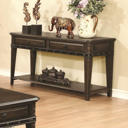 Coaster 70425 Sofa Table with 2 Drawers and 1 Shelf
