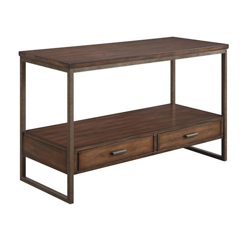 Coaster 70430 Industrial Sofa Table with Two Drawers