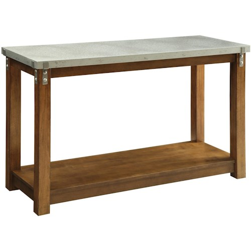 Coaster 70454 Sofa Table with Metal Top