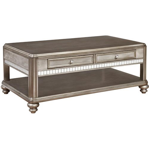 Coaster 70461 Coffee Table with 2 Drawers