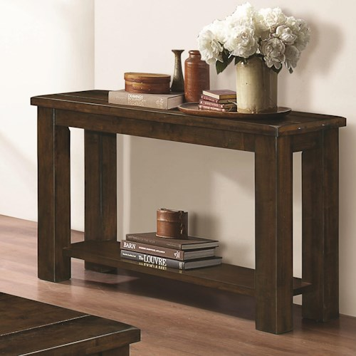Coaster 70474 Rectangular Sofa Table with Over-Sized Legs