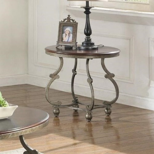 Coaster Caroline Traditional Oval End Table