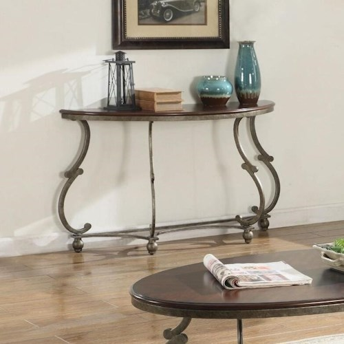Coaster Caroline Traditional Semicircle Sofa Table