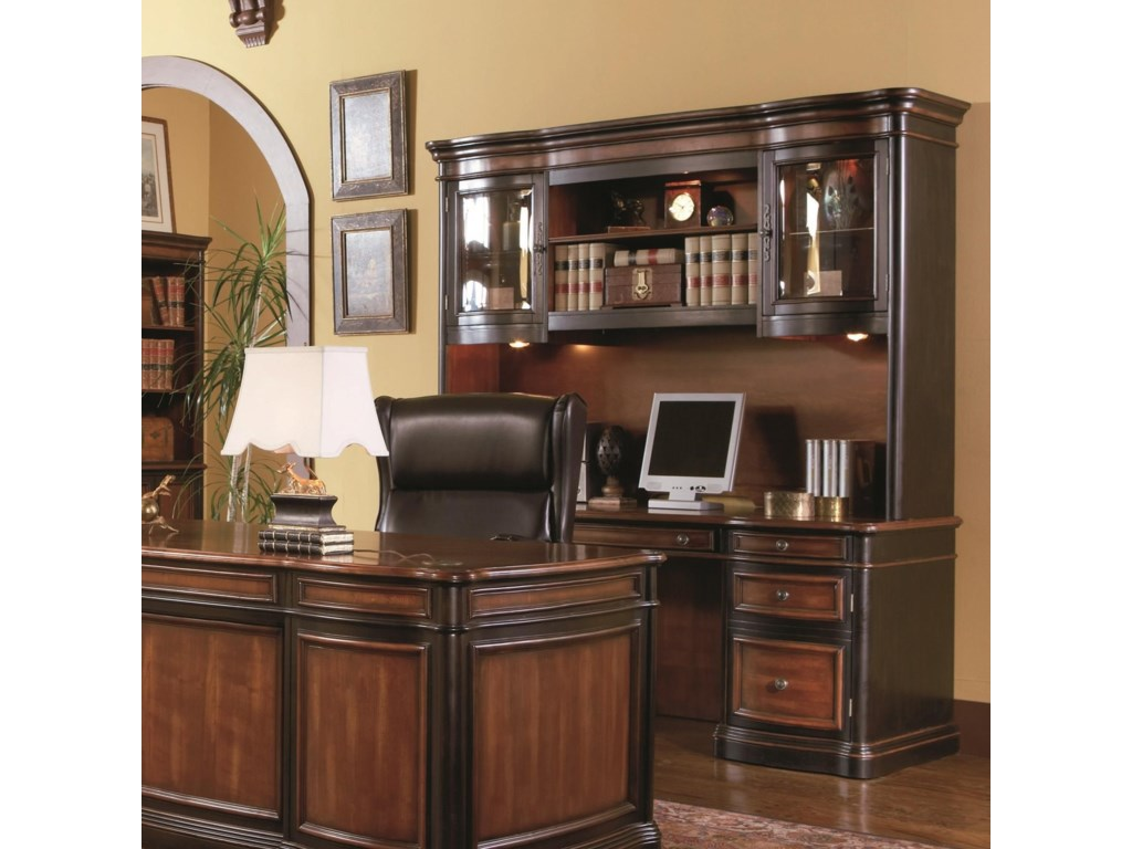 Shown in Room Setting with File Cabinet, Bookcase, and Desk