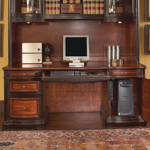 Coaster Pergola Double Pedestal Kneehole Credenza Desk