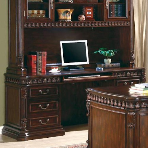 Coaster Union Hill Double Pedestal Computer Desk