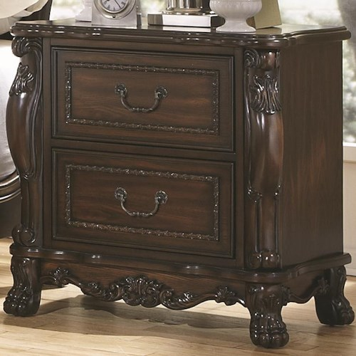 Coaster Abigail Nightstand With Two Drawers
