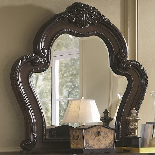 Coaster Abigail Mirror With Exaggerated Curved Frame
