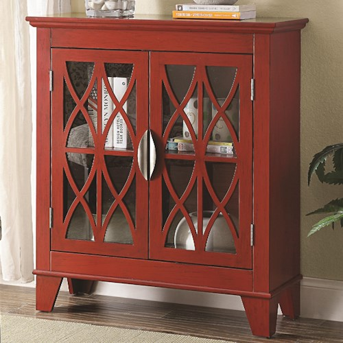 Coaster Accent Cabinets Accent Cabinet w/ Glass Doors