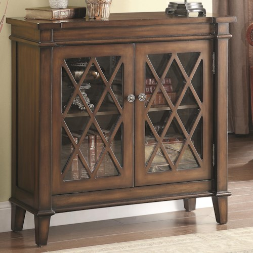 Coaster Accent Cabinets Accent Cabinet w/ Lattice Overlay