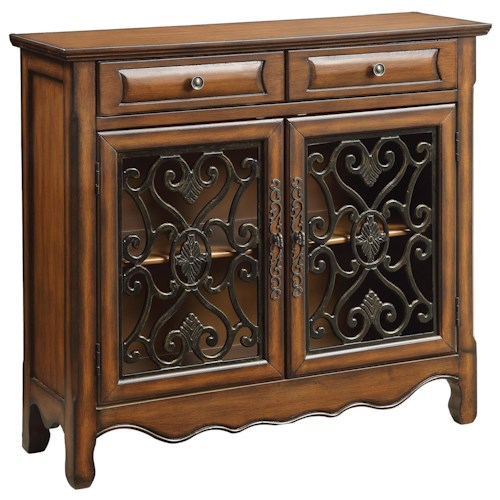 Coaster Accent Cabinets Traditional Accent Cabinet in Brown Finish
