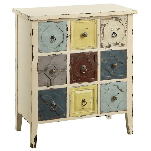 Coaster Accent Cabinets Accent Cabinet with Mismatched Drawers