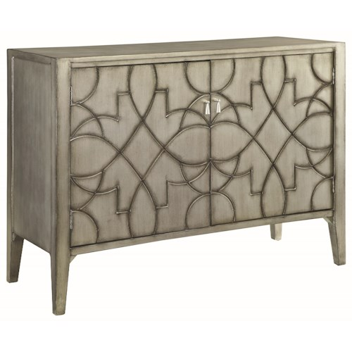 Coaster Accent Cabinets Accent Cabinet with Carved Doors