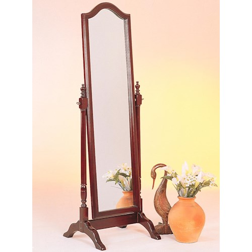 Coaster Accent Mirrors Cheval Mirror w/ Arch Top