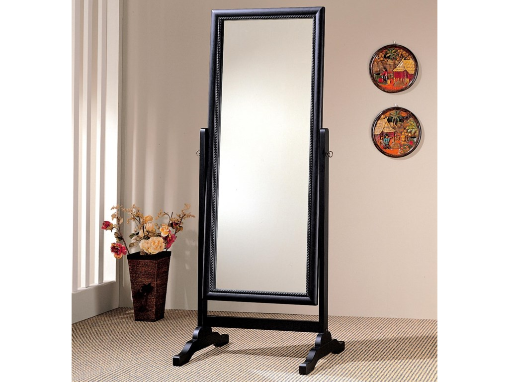 Mirrors For The Bedroom Coaster Accent Mirrors Black Rectangular Cheval Mirror Del Sol