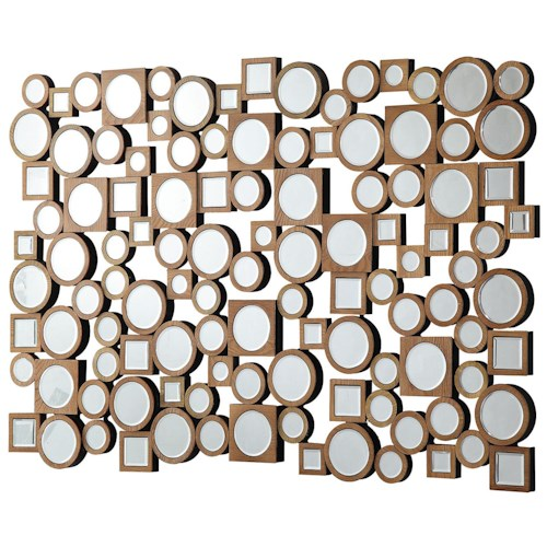 Coaster Accent Mirrors Collage Style Mirror with Round and Square Shapes